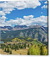 Elevated View Of Trees On Landscape Canvas Print