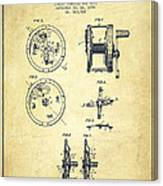 Fishing Reel Patent From 1896 Canvas Print