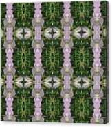 Flowers From Cherryhill Nj America Silken Sparkle Purple Tone Graphically Enhanced Innovative Patter Canvas Print