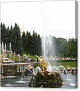 Fountain In Petergof Canvas Print