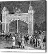 Golden Jubilee, 1887 Canvas Print