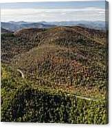 Graveyard Fields On The Blue Ridge Parkway Aerial Canvas Print