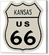 Historical Route 66 Sign Canvas Print