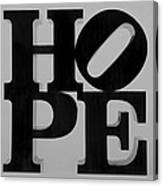 Hope In Black And White Canvas Print