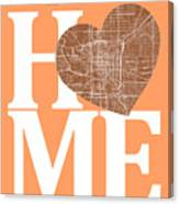 Indianapolis Street Map Home Heart - Indianapolis Indiana Road M Canvas Print