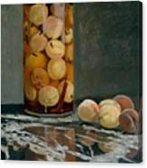 Jar Of Peaches Canvas Print