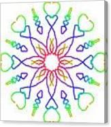 Kaleidoscope Drawing Canvas Print