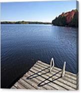 Lake In Autumn Canvas Print