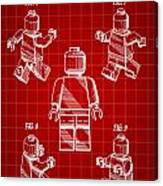 Lego Figure Patent 1979 - Red Canvas Print
