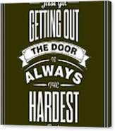 Life Motivating Quotes Poster Canvas Print