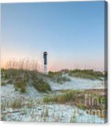 Sullivan's Island Dunes To Lighthouse View Canvas Print