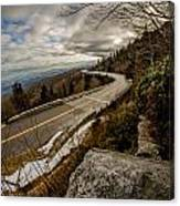 Linn Cove Viaduct During Winter Near Blowing Rock Nc Canvas Print