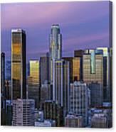 Los Angeles Skyline Sunset Canvas Print