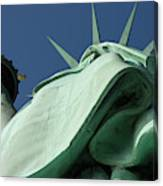 Low Angle View Of Statue Of Liberty Canvas Print
