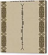 Macnamara Written In Ogham Canvas Print