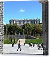 Madrid River Park Canvas Print