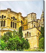 Malaga Cathedral In Andalusia Canvas Print