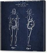 Manikin For Teaching Obstetrics And Midwifery Patent From 1951 - Canvas Print