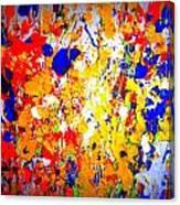 Modern Abstract Painting Original Canvas Art Wild By Zee Clark Canvas Print