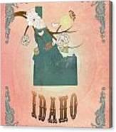 Modern Vintage Idaho State Map  Canvas Print