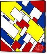 Mondrian Rectangles Canvas Print