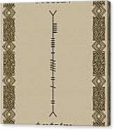 Moran Written In Ogham Canvas Print