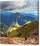 Mountains Stormy Landscape Canvas Print
