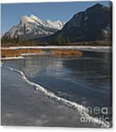 Mt. Rundle And Vermillion Lake Canvas Print