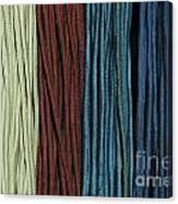Multi-colored Striped Fabrics Canvas Print