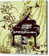 Musical Backgrounds With Instraments Canvas Print