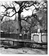 Near Entrance To Hindu Temple Of Mattan Canvas Print