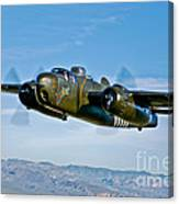 North American B-25g Mitchell Bomber Canvas Print