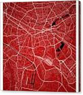 Nuremberg Street Map - Nuremberg Germany Road Map Art On Colored Canvas Print