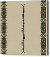 O'connor Written In Ogham Canvas Print