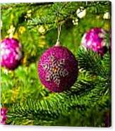 Ornament In A Christmas Tree Canvas Print