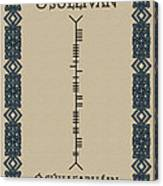 O'sullivan Written In Ogham Canvas Print
