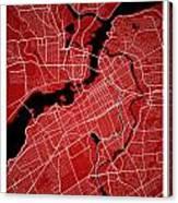 Ottawa Street Map - Ottawa Canada Road Map Art On Colored Backgr Canvas Print