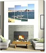 4-panel - Lake Powell Marina Canvas Print