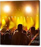 People On Music Concert Canvas Print