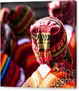 Peruvian Dancers At The Parade In Cusco Canvas Print