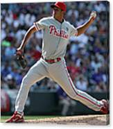 Philadelphia Phillies V Colorado Rockies Canvas Print