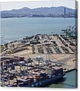 Port Of Oakland, Oakland Canvas Print
