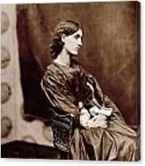 Portrait Of Jane Morris Canvas Print
