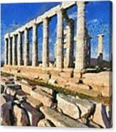 Poseidon Temple Canvas Print