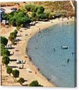Psili Ammos Beach In Serifos Island Canvas Print