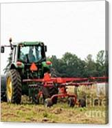 Raking Hay Canvas Print