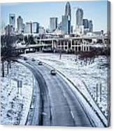 Rare Winter Scenery Around Charlotte North Carolina Canvas Print