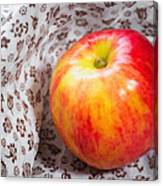 Red And Yellow Apple Canvas Print