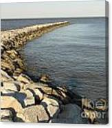 Rock Jetty At Sandy Point Canvas Print