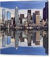 Seattle Skyline Waterfront Canvas Print